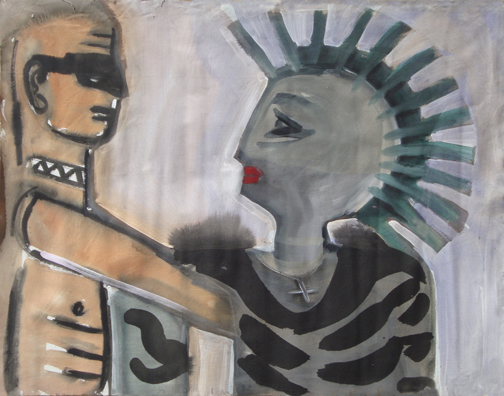 paintings punk couple